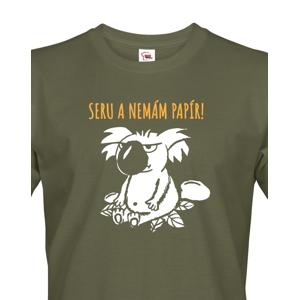 Pánské tričko Seru a nemám papír - triko s koalou