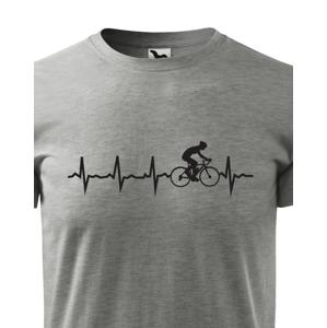 Pánské tričko Tep cyklisty - Ukažte všem, kam vás vaše srdce táhne