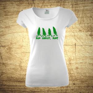 Tričko s motivem Run Forest, Run