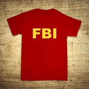 Tričko s motívom FBI