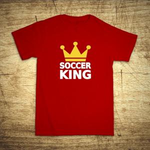 Tričko s motívom Soccer king
