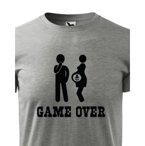 Vtipné tričko pro budoucí tatínky s potiskem Game over 2