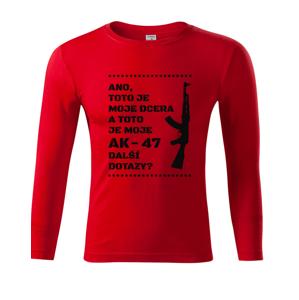 Vtipné tričko pro tatínky Toto je moje dcera a toto je moje AK-47